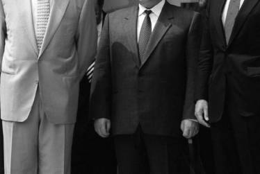 Translating for Prime Minister Chernomyrdin, President Clinton and Vice President Al Gore, Washington DC, 1995