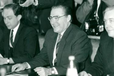 Translating for Ambassadors Viktor Karpov and Alexei Obukhov, START and INF Talks, Geneva, 1985