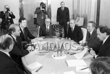 Translating for Soviet Foreign Minister Andrei Gromyko and US Senator Joe Biden, Moscow, January 1988