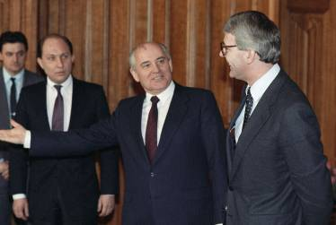 Interpreting for Soviet President Mikhail Gorbachev and UK Prime Minister John Major, October 1991, Moscow