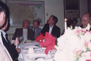 Interpreting for Presidents Gorbachev and George H.W. Bush, Camp David (also in picture - future VP Dick Cheney)