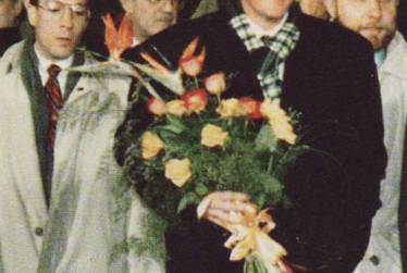 With President Bill Clinton, Moscow (also in picture, Secretary of State Warren Christopher)