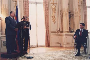 Consecutive interpreting with note-taking: Prime Minister Chernomyrdin and Vice President Gore, Russian Embassy, Washington DC