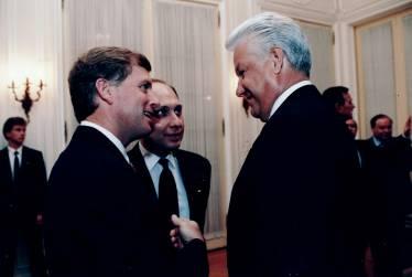 Interpreting for President Yeltsin and Vice President Dan Quayle, Russian Embassy, Washington DC