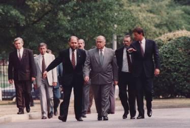 Interpreting for Russian Prime Minister Viktor Chernomyrdin and US Vice President Al Gore, Washington DC