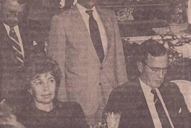 Translating for Raisa Gorbacheva and President Bush, Soviet Embassy, Washington DC