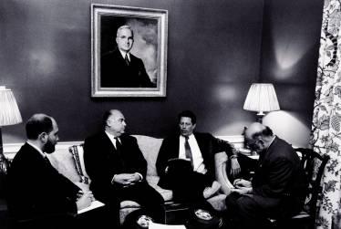 Translating for Prime Minister Viktor Chernomyrdin and Vice President Al Gore, White House, Washington DC